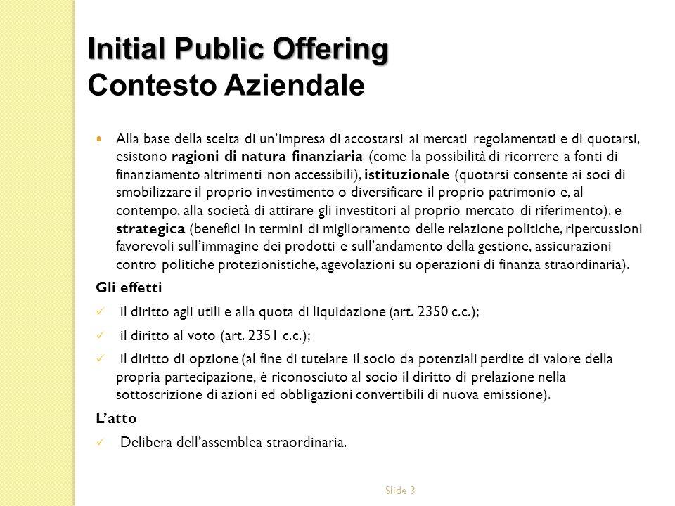 Initial Public Offering Contesto Aziendale