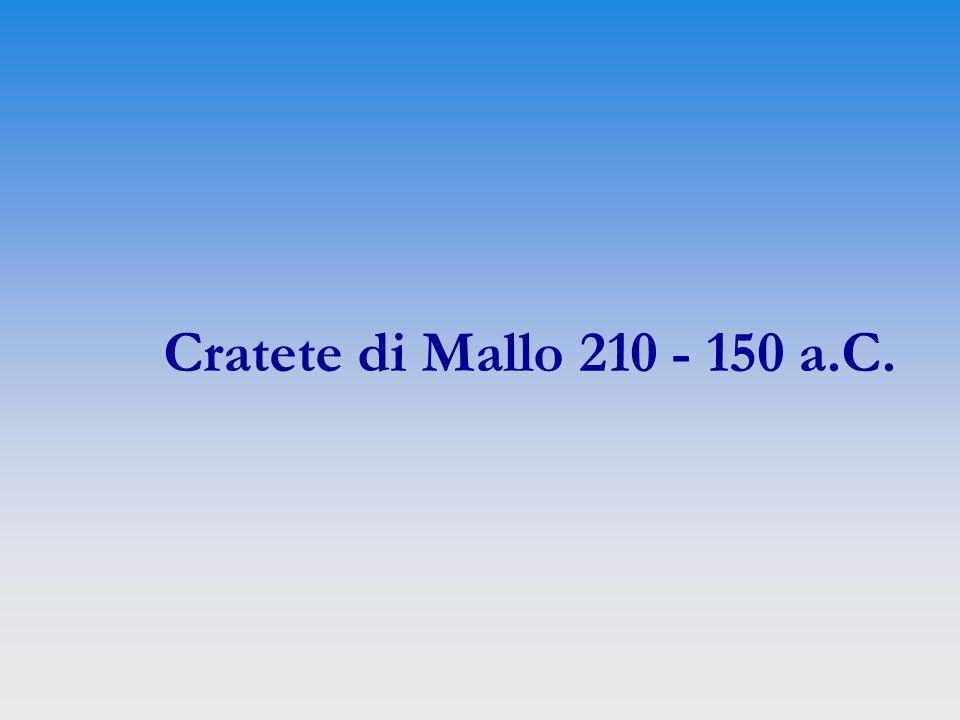 Cratete di Mallo 210 - 150 a.C.
