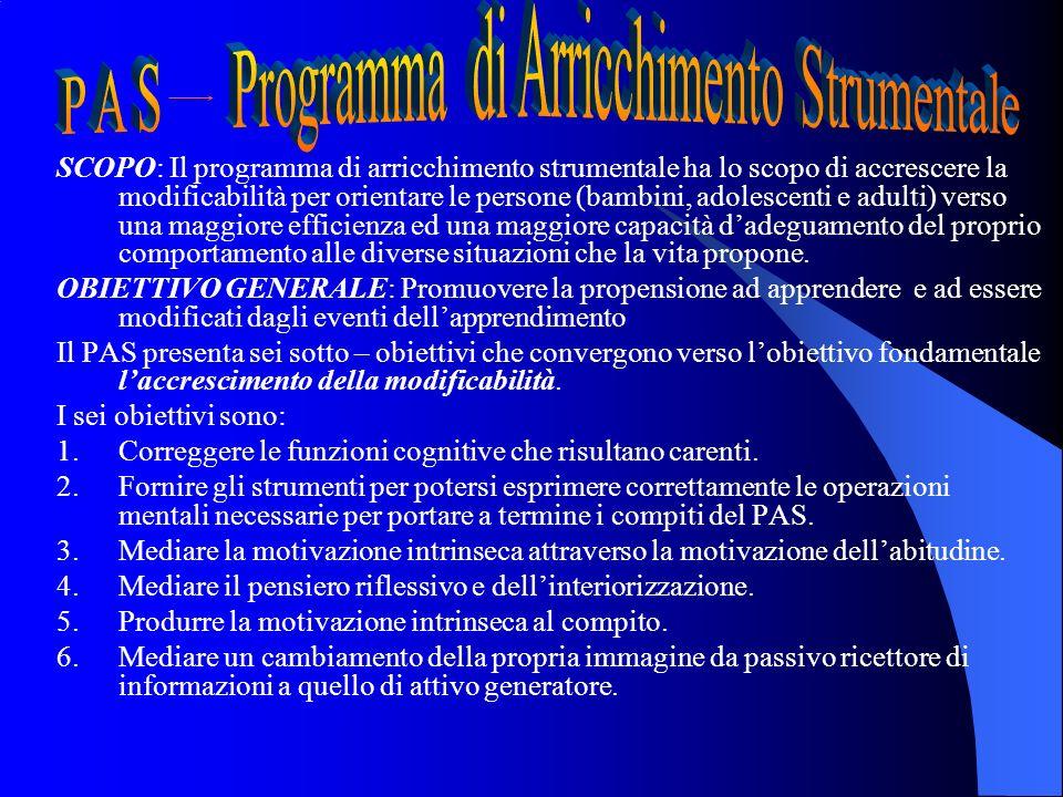 P A S Programma di Arricchimento Strumentale