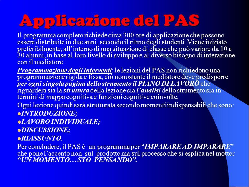 Applicazione del PAS