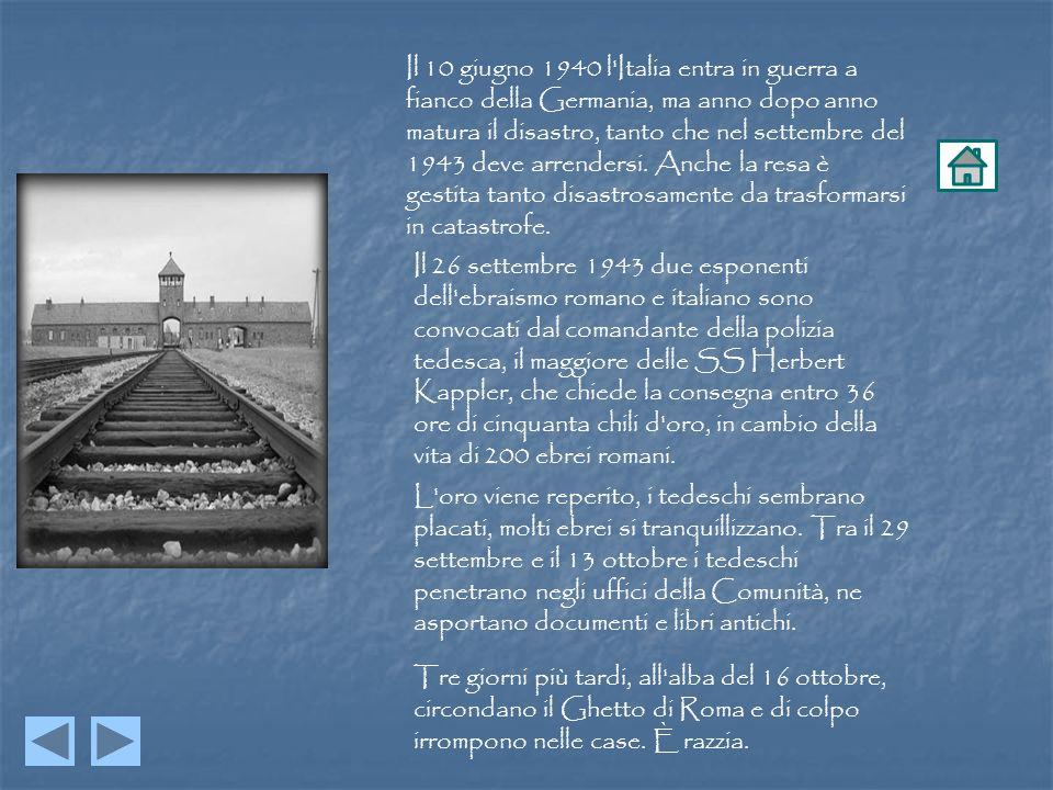 Il 10 giugno 1940 l Italia entra in guerra a fianco della Germania, ma anno dopo anno matura il disastro, tanto che nel settembre del 1943 deve arrendersi. Anche la resa è gestita tanto disastrosamente da trasformarsi in catastrofe.