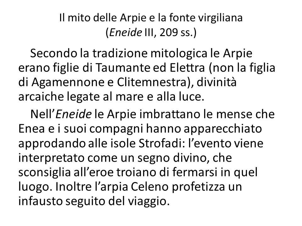 Il mito delle Arpie e la fonte virgiliana (Eneide III, 209 ss.)