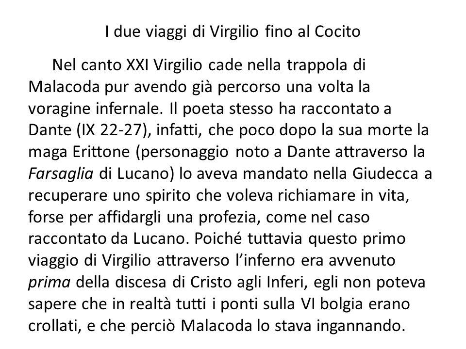 I due viaggi di Virgilio fino al Cocito