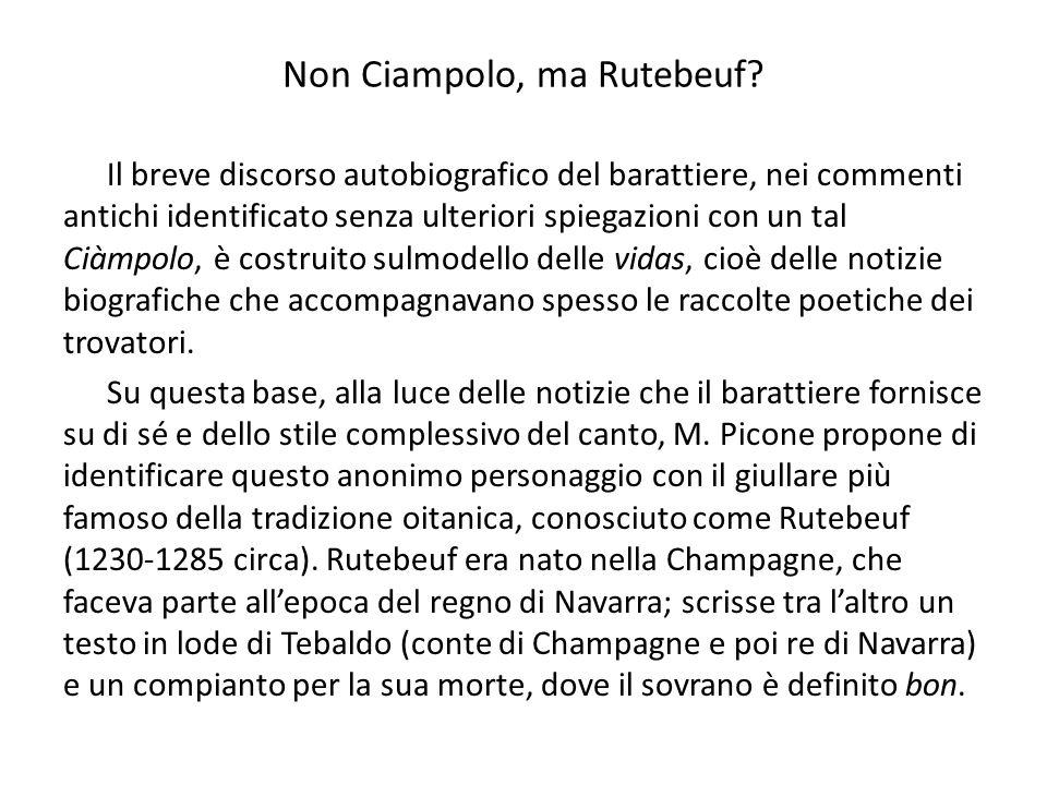 Non Ciampolo, ma Rutebeuf