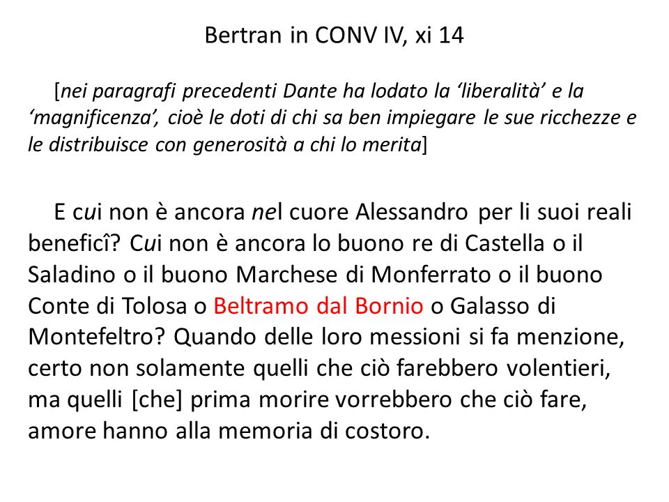 Bertran in CONV IV, xi 14