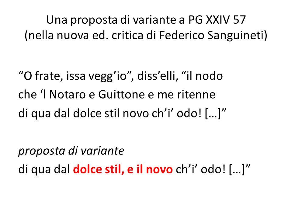 Una proposta di variante a PG XXIV 57 (nella nuova ed