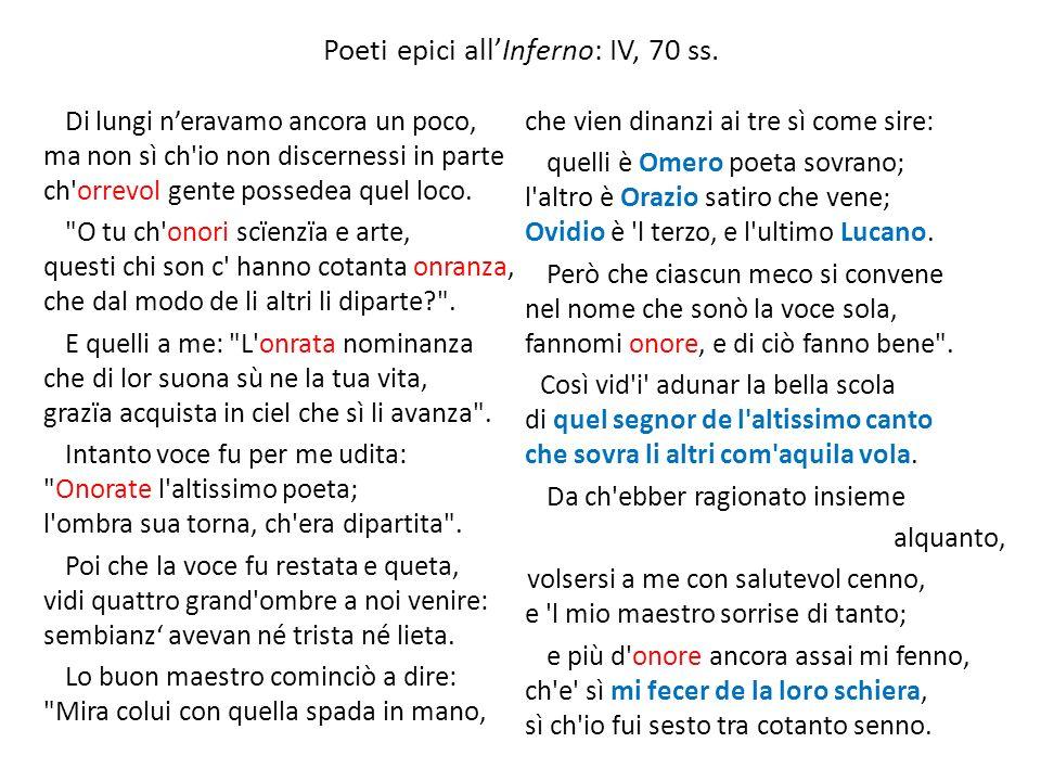Poeti epici all'Inferno: IV, 70 ss.