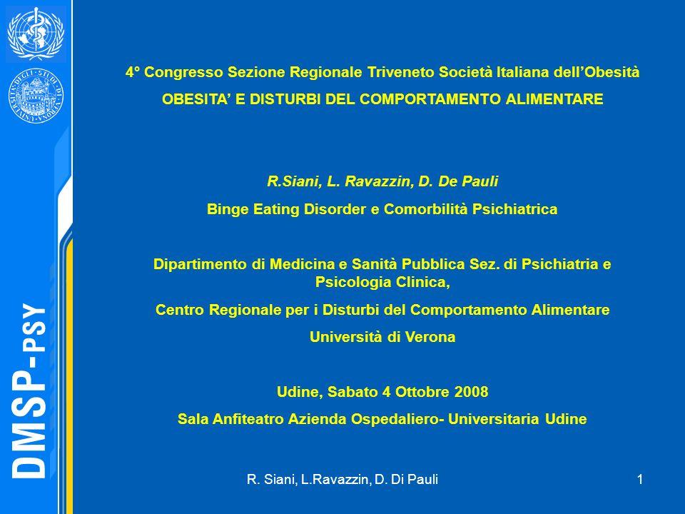 4° Congresso Sezione Regionale Triveneto Società Italiana dell'Obesità