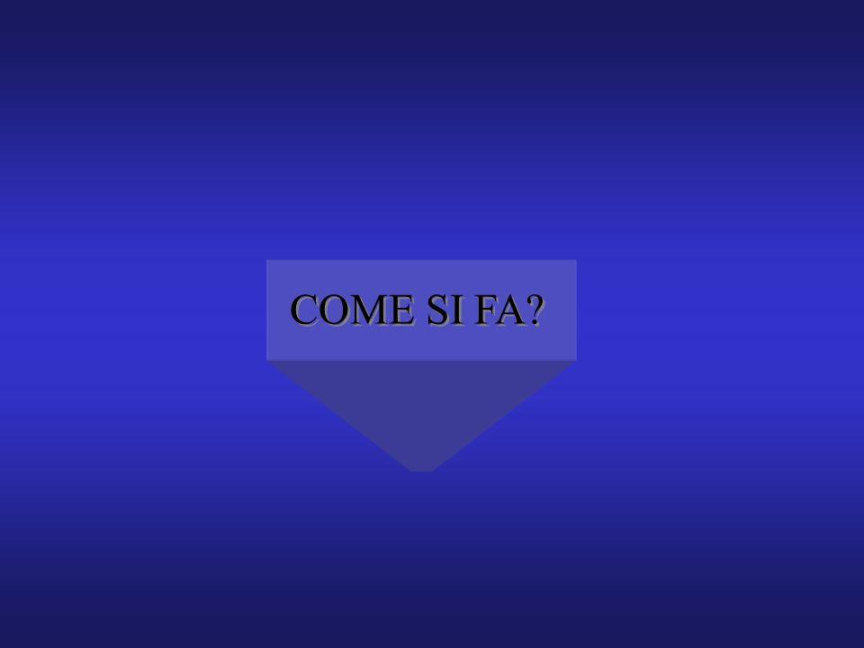 COME SI FA