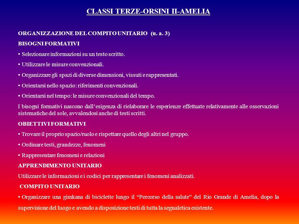 CLASSI TERZE-ORSINI II-AMELIA