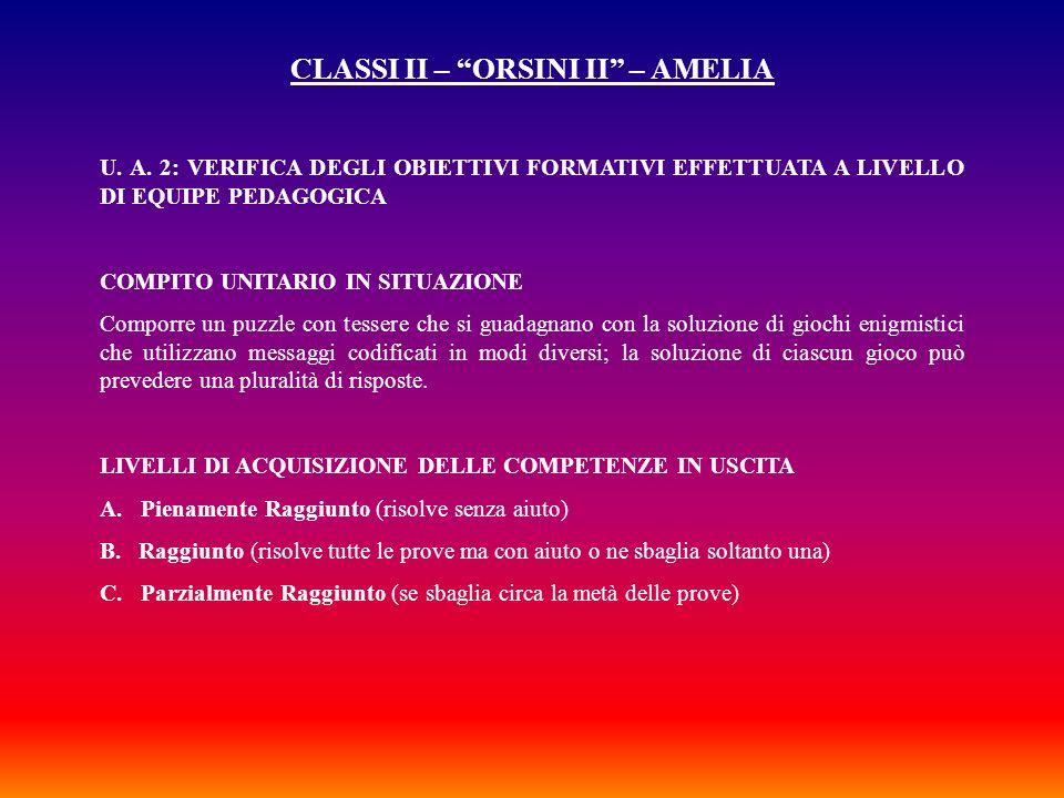 CLASSI II – ORSINI II – AMELIA