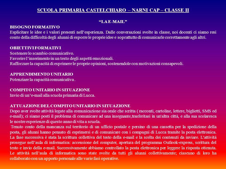 SCUOLA PRIMARIA CASTELCHIARO – NARNI CAP – CLASSE II