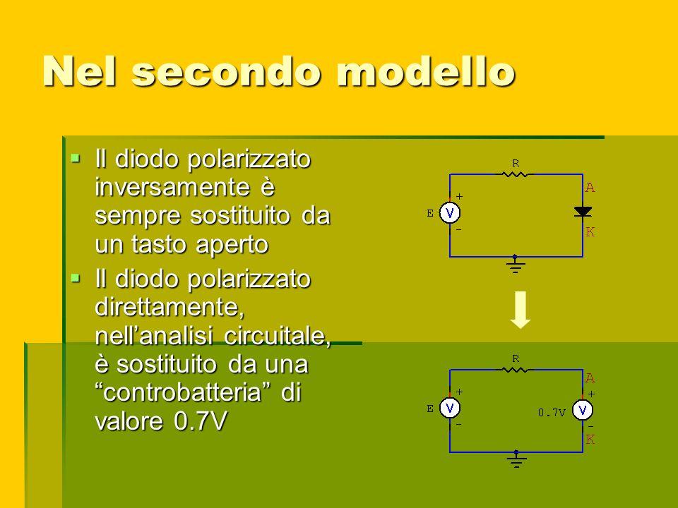 Nel secondo modello Il diodo polarizzato inversamente è sempre sostituito da un tasto aperto.