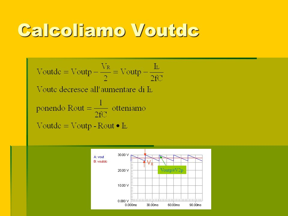 Calcoliamo Voutdc VR VoutpV2p