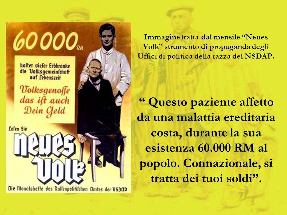 Immagine tratta dal mensile Neues Volk strumento di propaganda degli Uffici di politica della razza del NSDAP.
