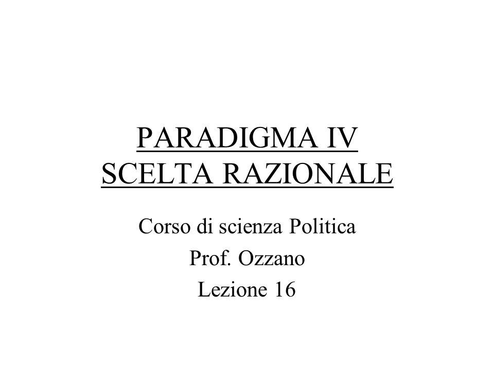 PARADIGMA IV SCELTA RAZIONALE