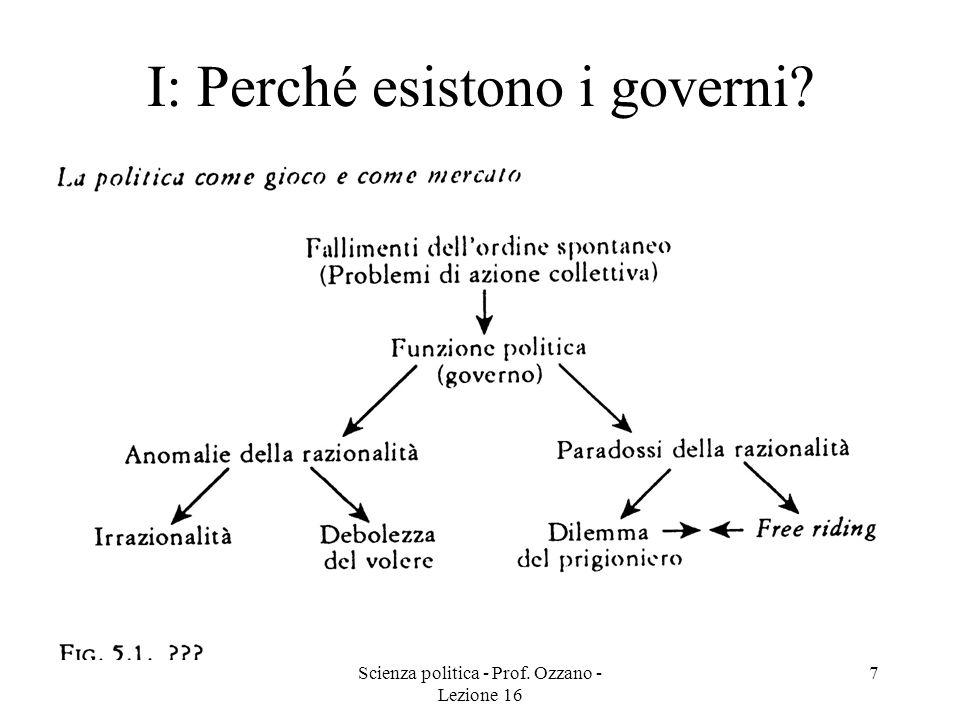 I: Perché esistono i governi