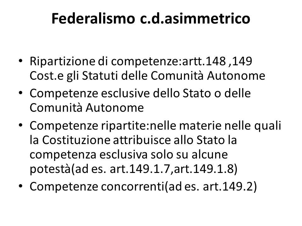 Federalismo c.d.asimmetrico