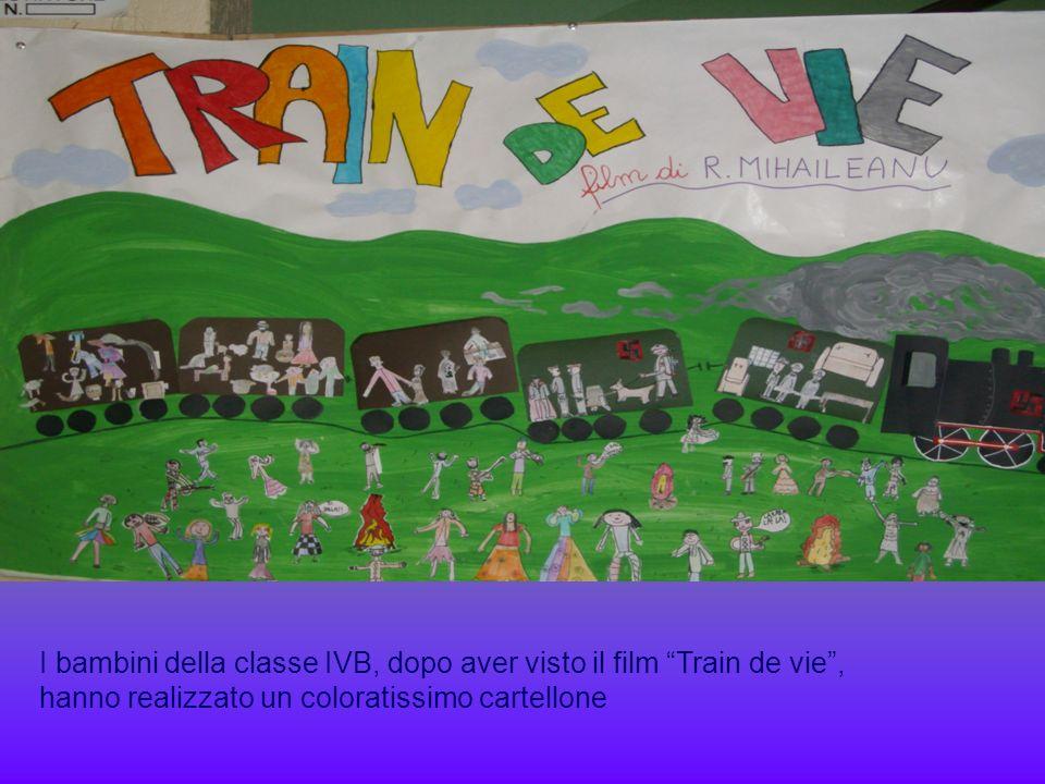 I bambini della classe IVB, dopo aver visto il film Train de vie , hanno realizzato un coloratissimo cartellone