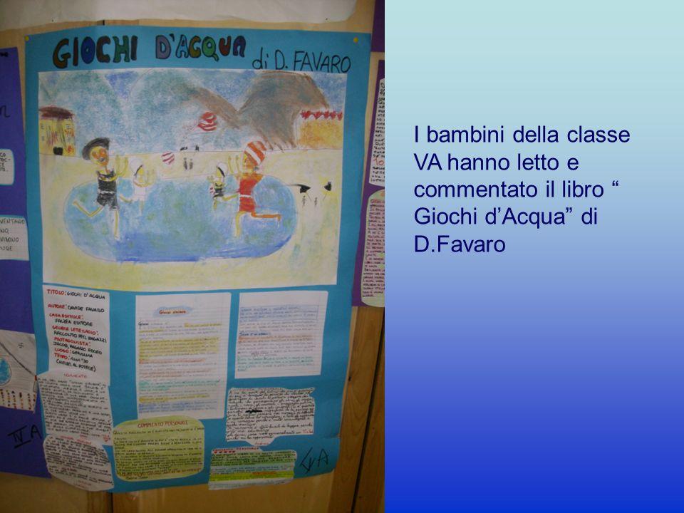 I bambini della classe VA hanno letto e commentato il libro Giochi d'Acqua di D.Favaro