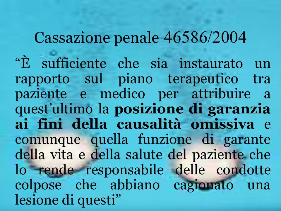 Cassazione penale 46586/2004