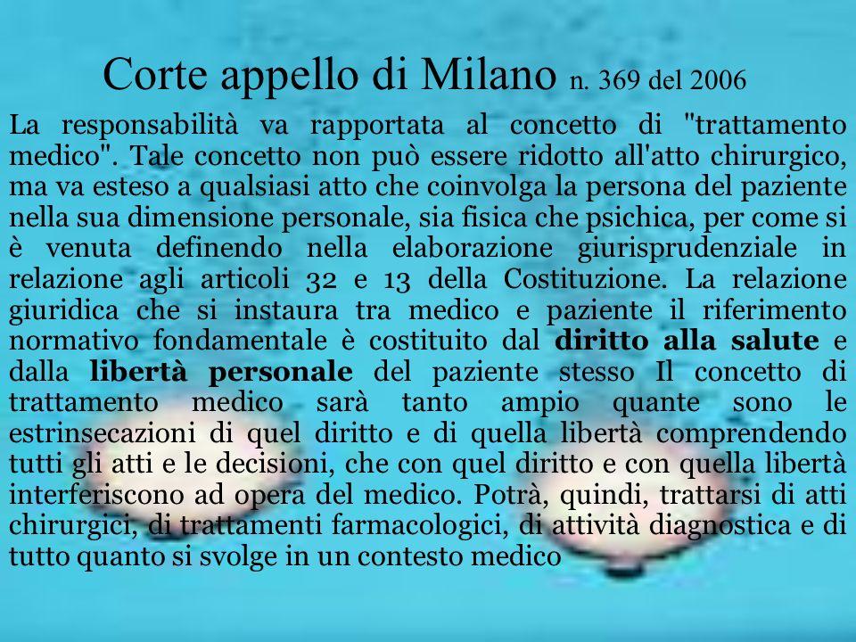 Corte appello di Milano n. 369 del 2006 