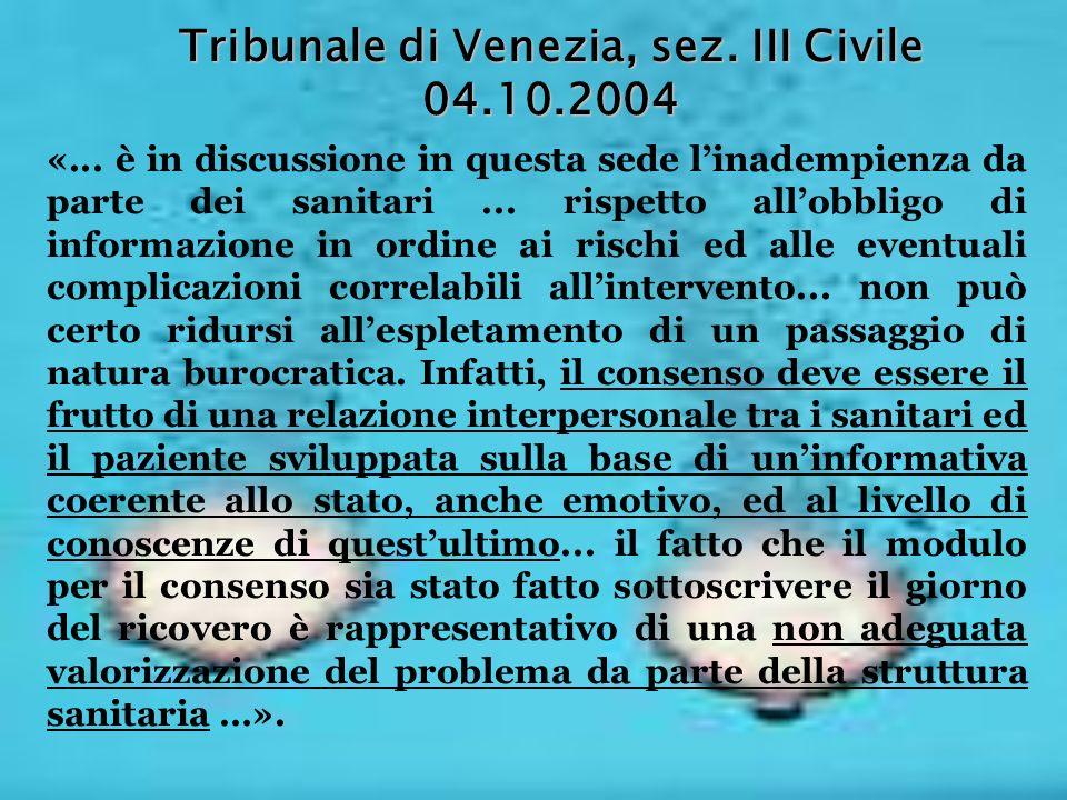 Tribunale di Venezia, sez. III Civile