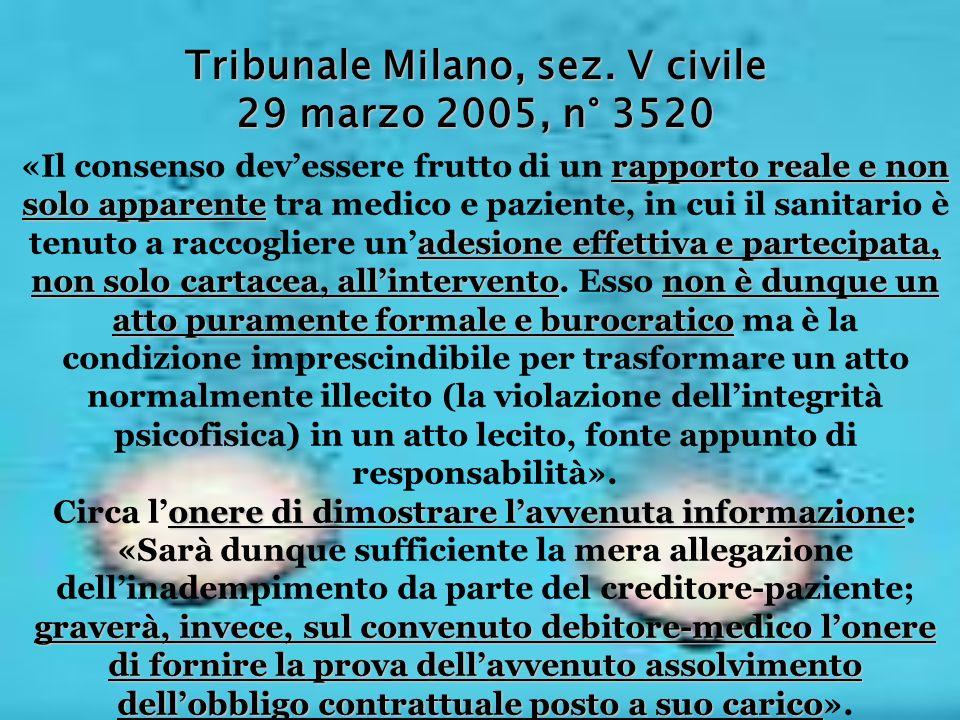 Tribunale Milano, sez. V civile