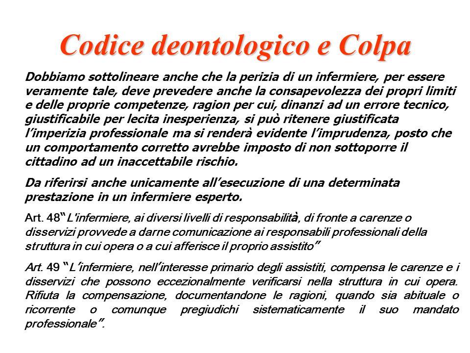 Codice deontologico e Colpa
