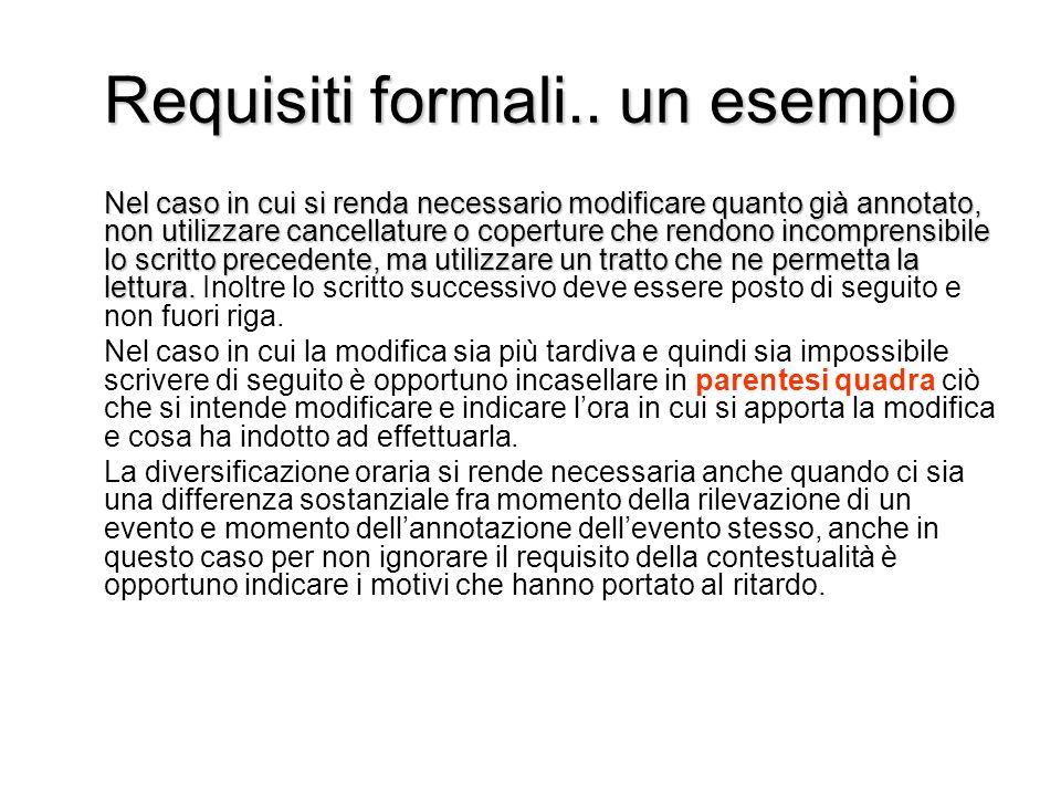 Requisiti formali.. un esempio