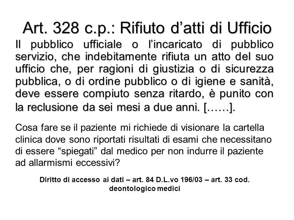Art. 328 c.p.: Rifiuto d'atti di Ufficio