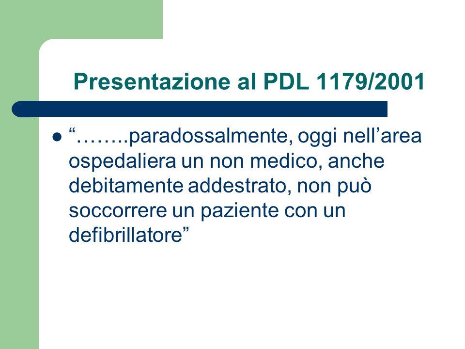 Presentazione al PDL 1179/2001