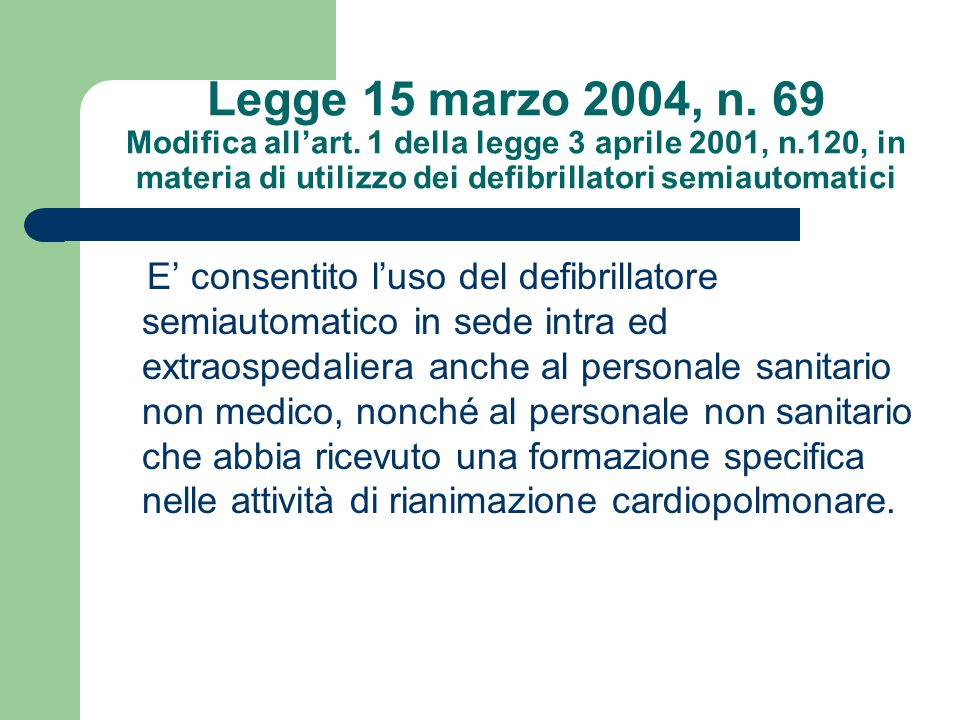 Legge 15 marzo 2004, n. 69 Modifica all'art