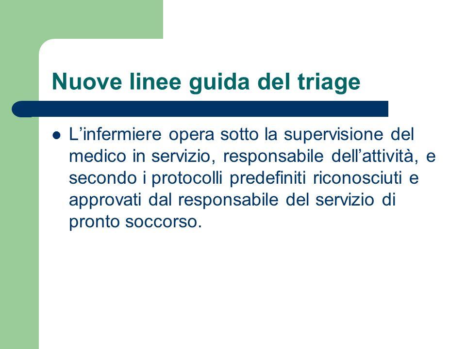 Nuove linee guida del triage
