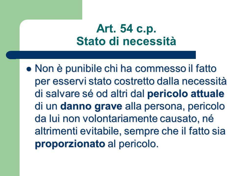 Art. 54 c.p. Stato di necessità