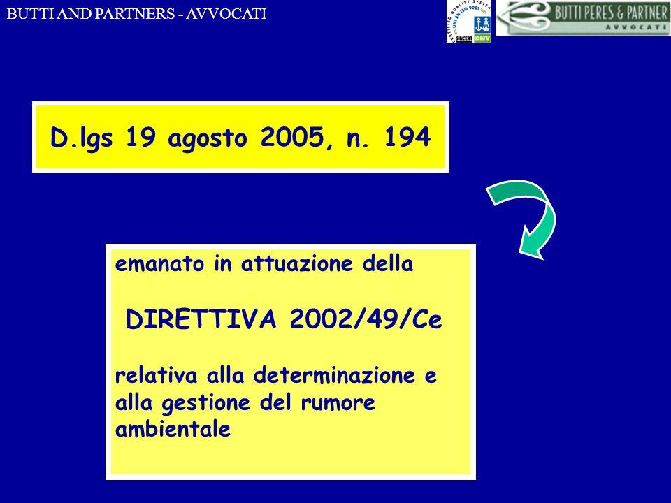 D.lgs 19 agosto 2005, n. 194 emanato in attuazione della