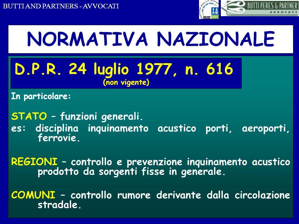 NORMATIVA NAZIONALE D.P.R. 24 luglio 1977, n. 616