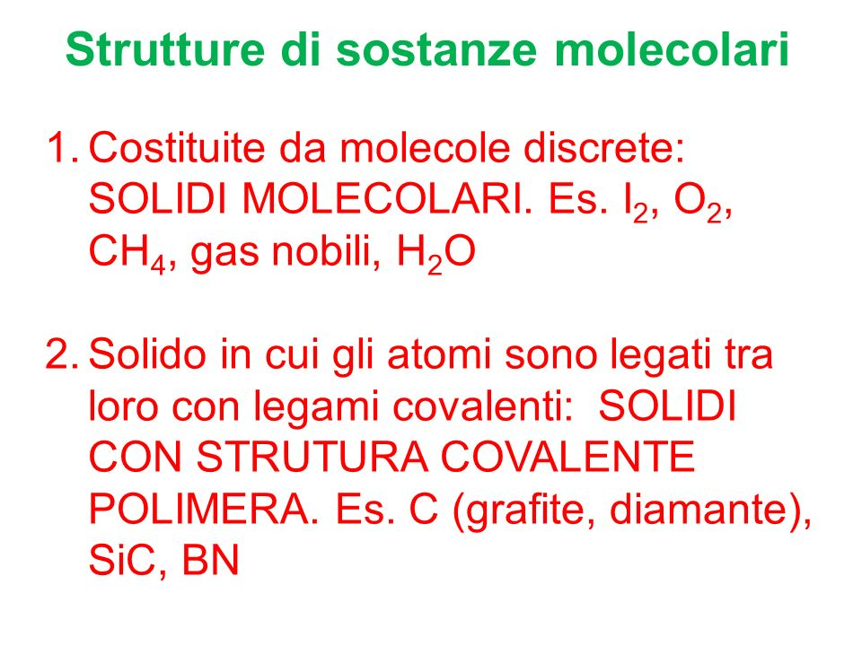 Strutture di sostanze molecolari