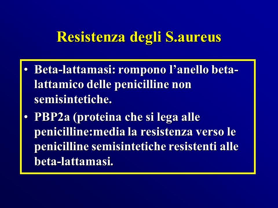 Resistenza degli S.aureus