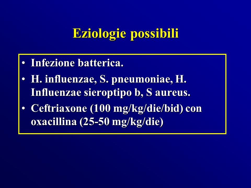 Eziologie possibili Infezione batterica.