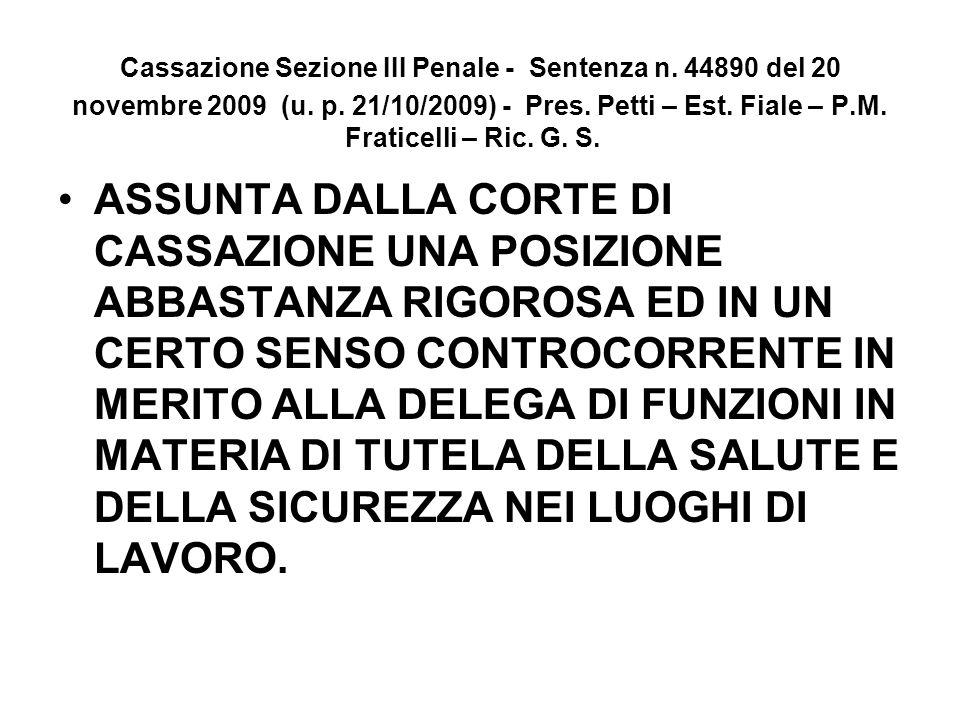 Cassazione Sezione III Penale - Sentenza n