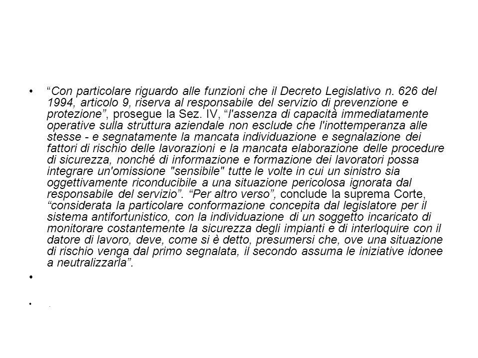 Con particolare riguardo alle funzioni che il Decreto Legislativo n