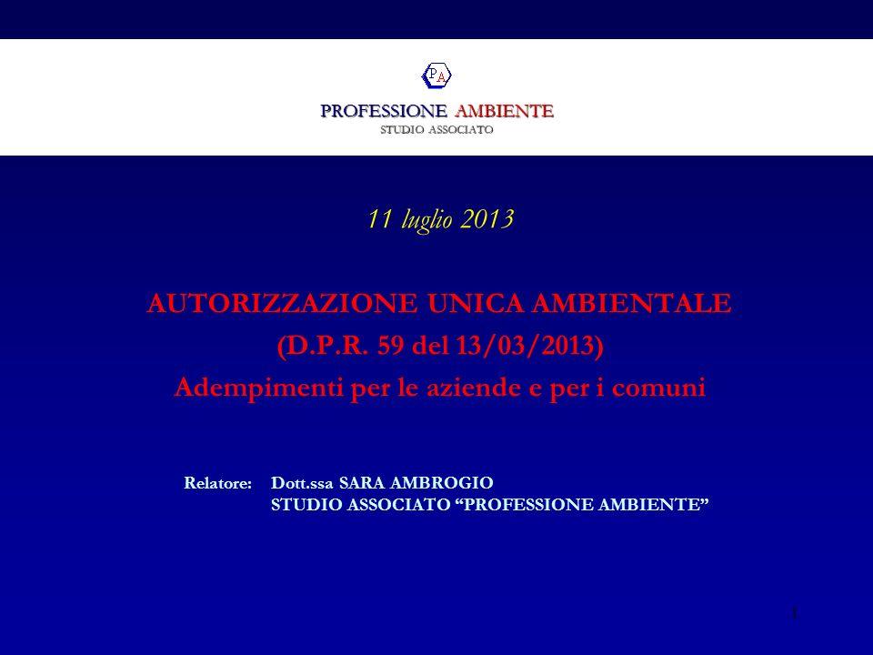 PROFESSIONE AMBIENTE STUDIO ASSOCIATO