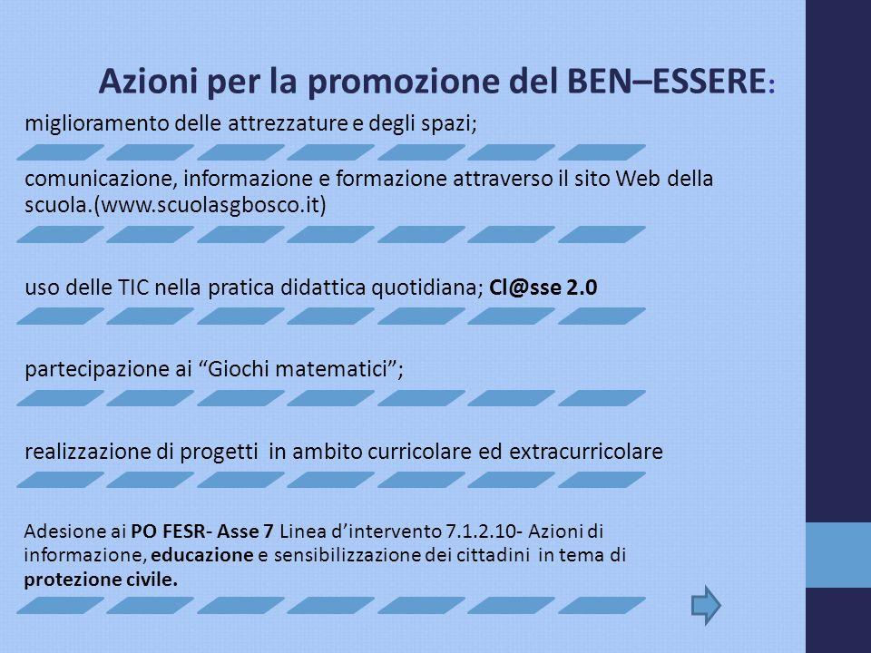 Azioni per la promozione del BEN–ESSERE: