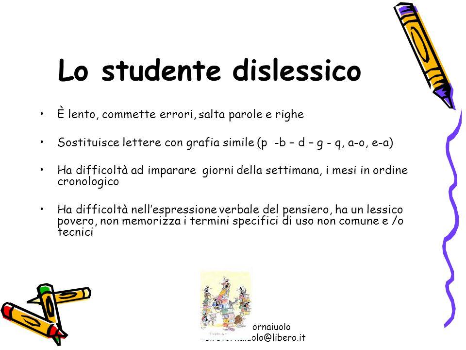 Lo studente dislessico