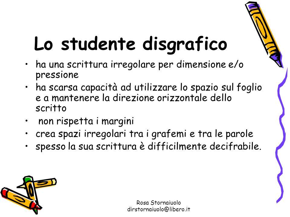 Lo studente disgrafico