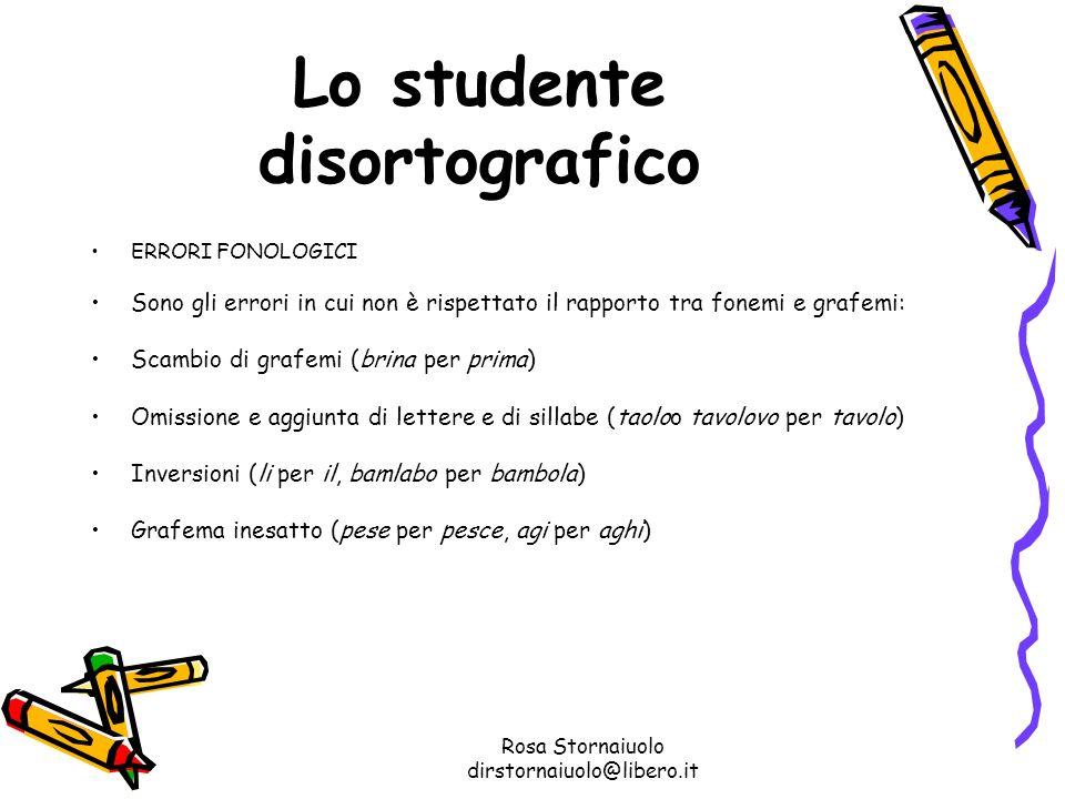 Lo studente disortografico