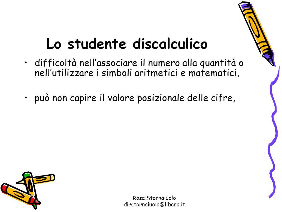 Lo studente discalculico