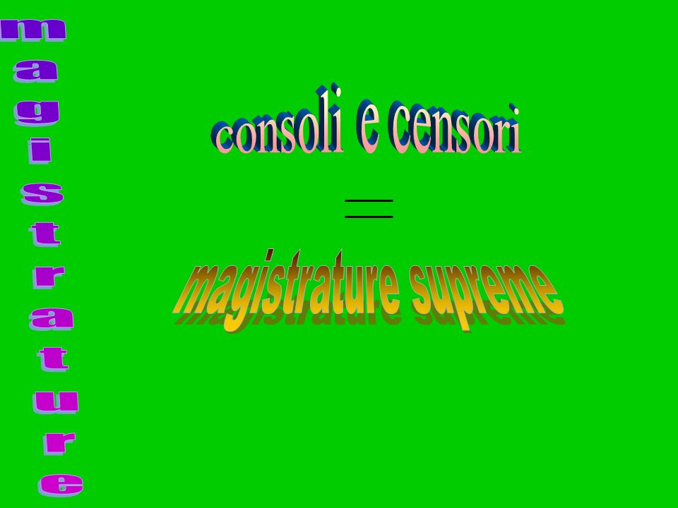consoli e censori magistrature magistrature supreme