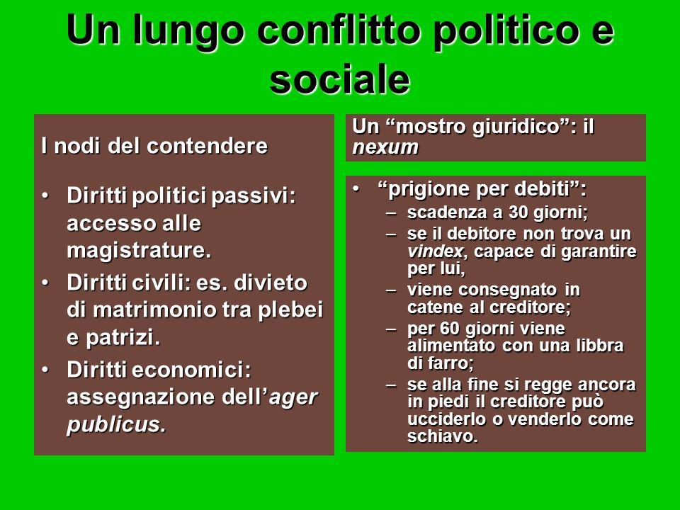 Un lungo conflitto politico e sociale
